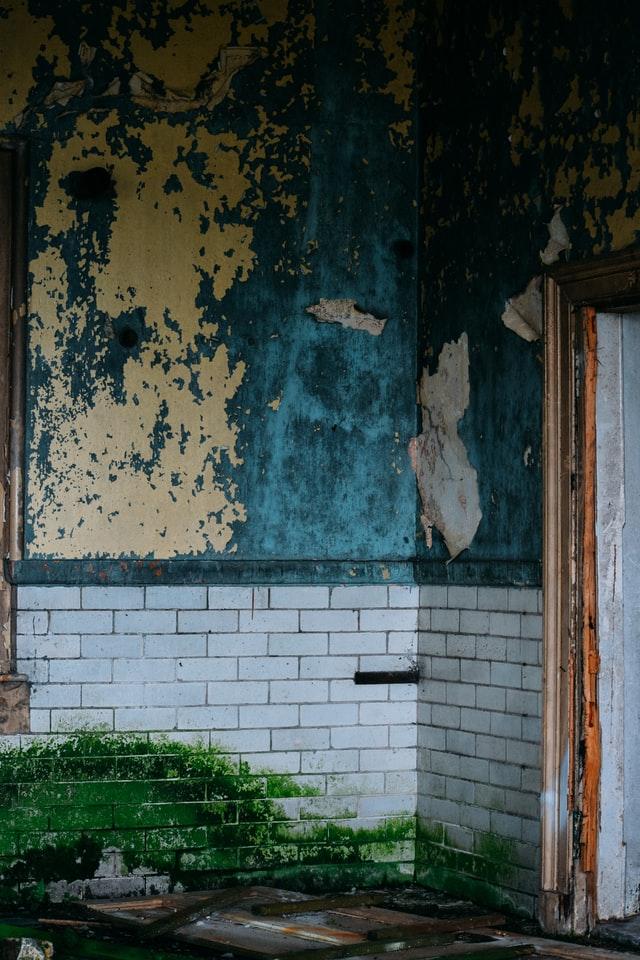 Water damaged walls